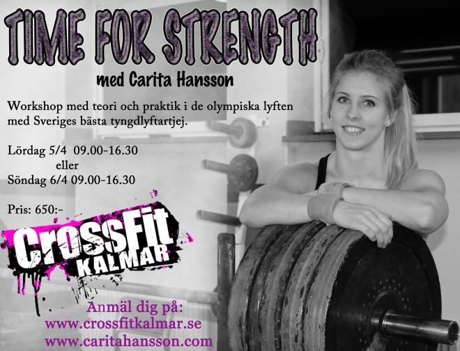 Affisch Workshop Kalmar Crossfit